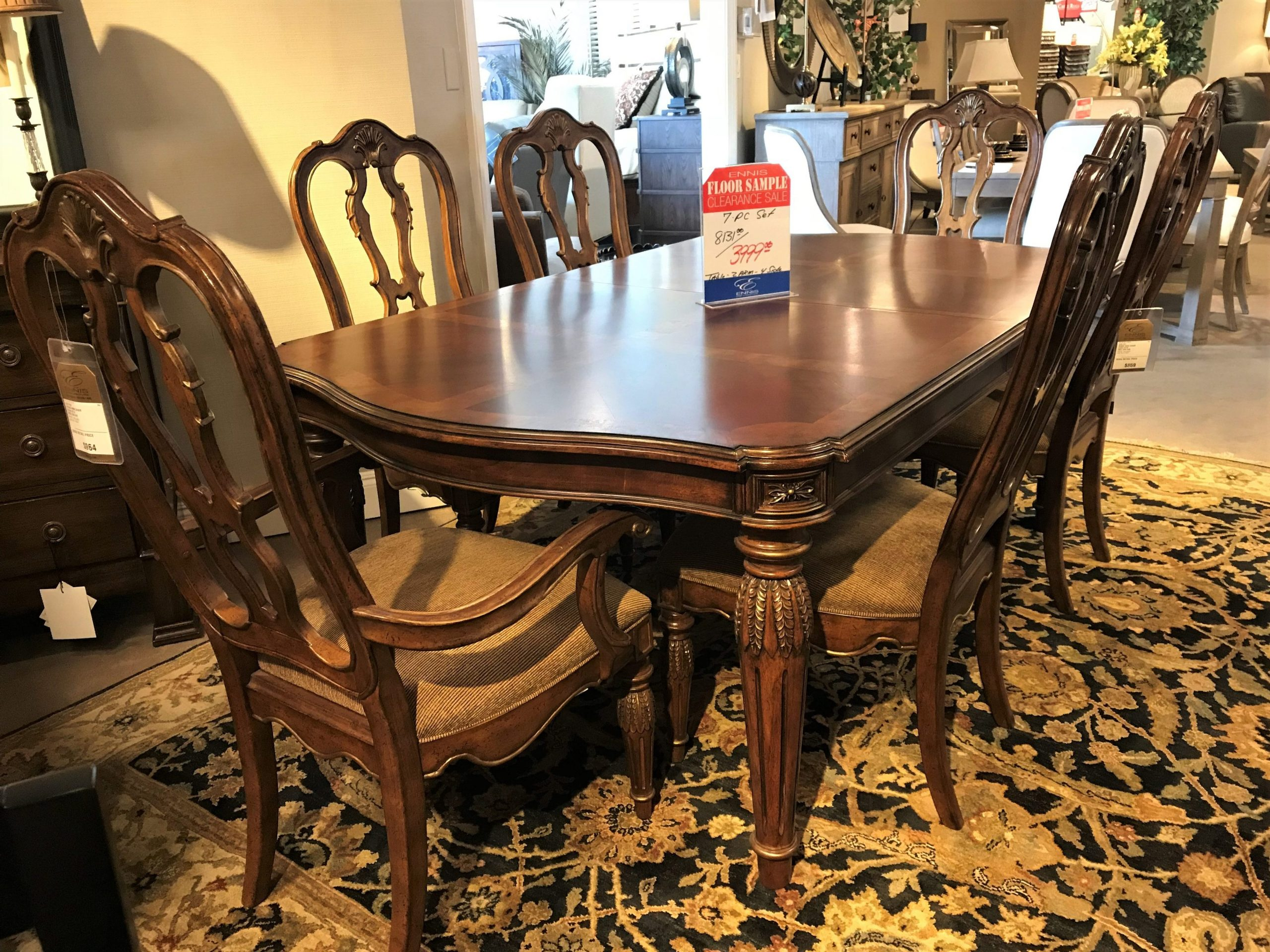Drexel Heritage Giorando 7 Piece Dining Set Includes Table With Two 24